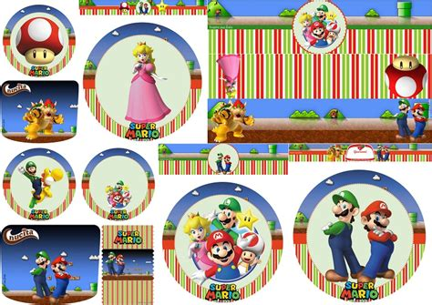 Printable Mario Brothers Stickers