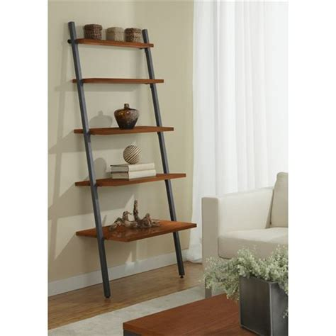 narrow ladder bookcase jesper office b3071 narrow 30 five tier ladder bookcase