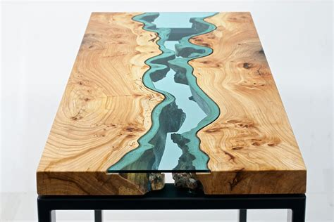 topography coffee table glass rivers and lakes flow across beautiful tables by