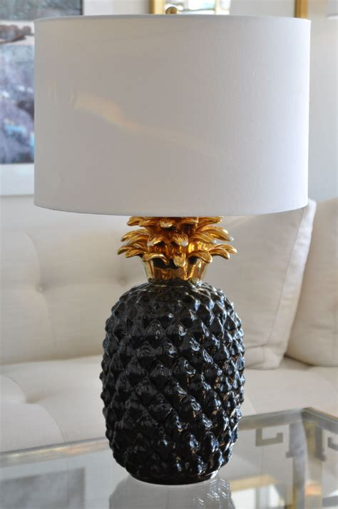 Dining Room Art Ideas vintage overscale ceramic pineapple lamp mecox gardens
