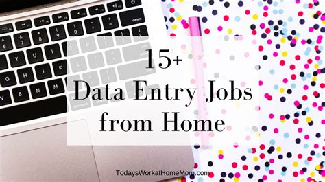 Online Jobs Work From Home Data Entry - 15 data entry jobs from home todays work at home mom