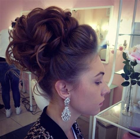 Wedding Hair High Curly Bun by Gorgeous Wedding Hairstyle That You Are Fond Of
