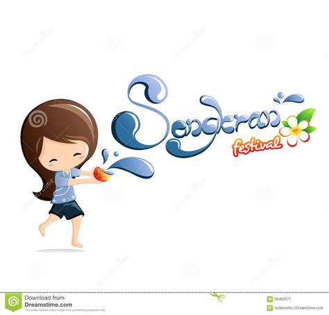 card  songkran festival  thailand thai holidays cartoon vector cartoondealercom
