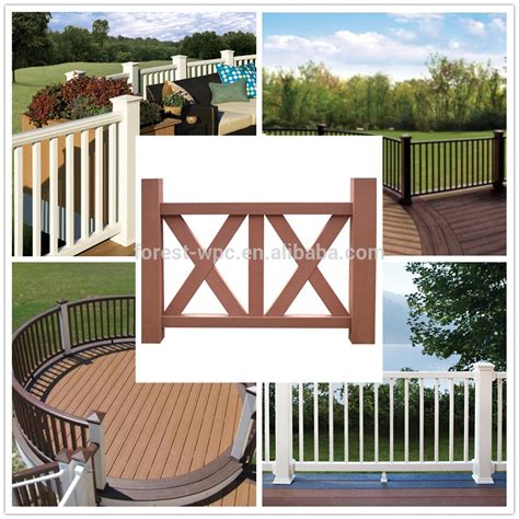 Replacement Stair Banisters Balcony Railing Design Decorative Wood Rail Outdoor Wpc