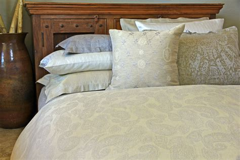 leitner sahrah paisley pattern linen bedding table - Paisley Bed Linen