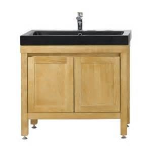 meuble sous vasque aquitane ii 90 cm castorama