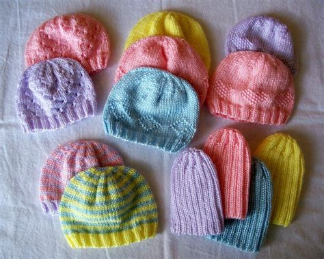 premature baby hats knitting patterns knit some preemie hats for charity the spinners husband