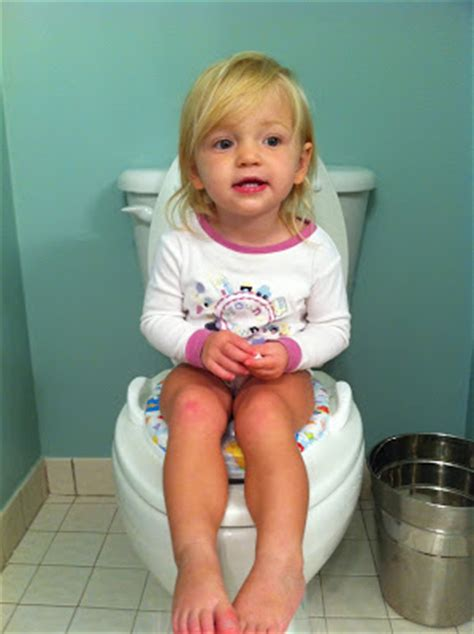 girl on toilet potty training potty training girls