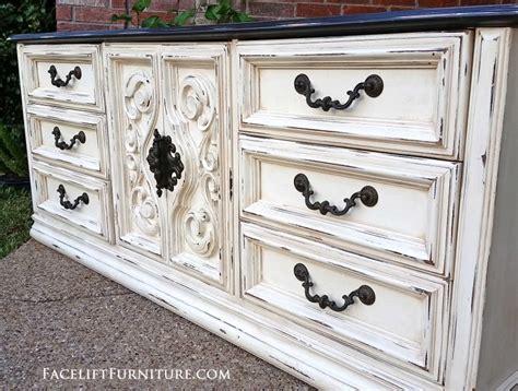 distressed antique green 3 drawer wood dresser off white refinished furniture facelift furniture