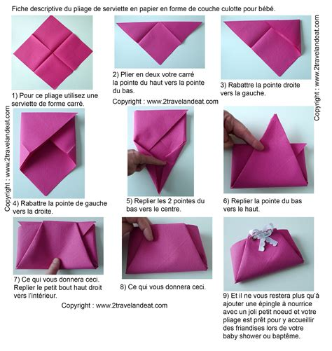 Origami Serviette De Table by Pliage De Serviettes De Table En Papier Pliage De Papier