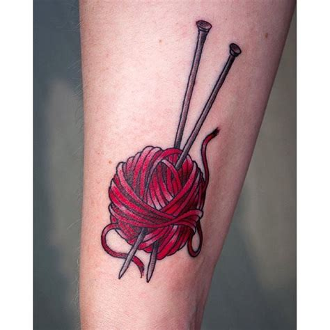 knitting tattoos designs 16 delightful knitting tattoos knitting