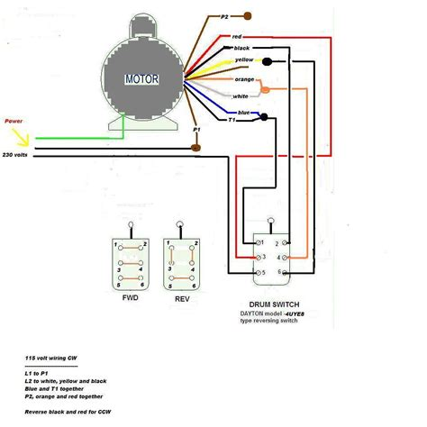 115 volt motor reversing switch wiring diagram 5 pole