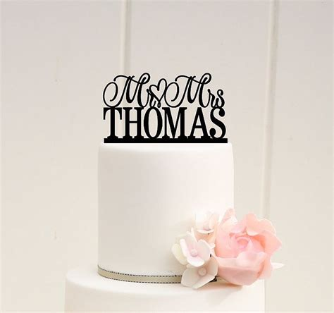 wedding cake topper scroll mr and mrs topper custom personalized with your last name wedding