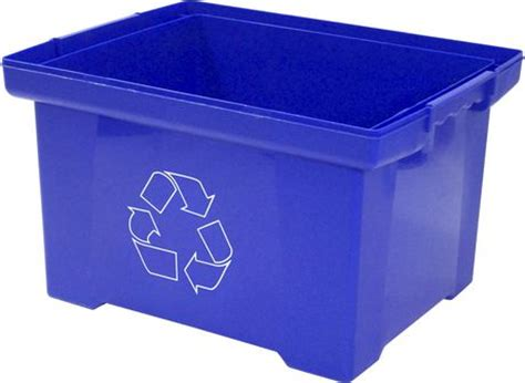 L Recycle Boxes by Recycling Bin Box Blue 35l Walmart Canada