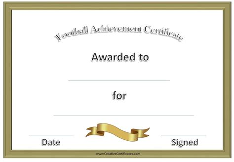 football certificate template free custom football certificates