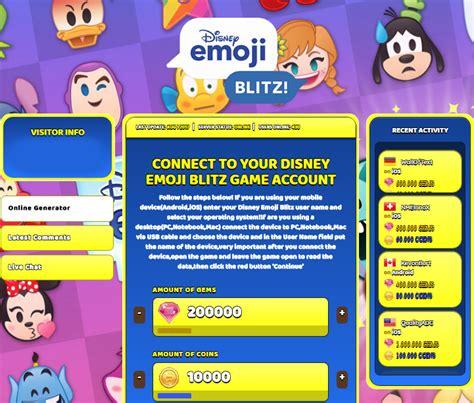 emoji generator disney emoji blitz hack cheat online gems and coins
