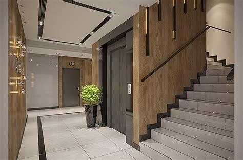 foyer of building apartments building entrance area foyer lobby with