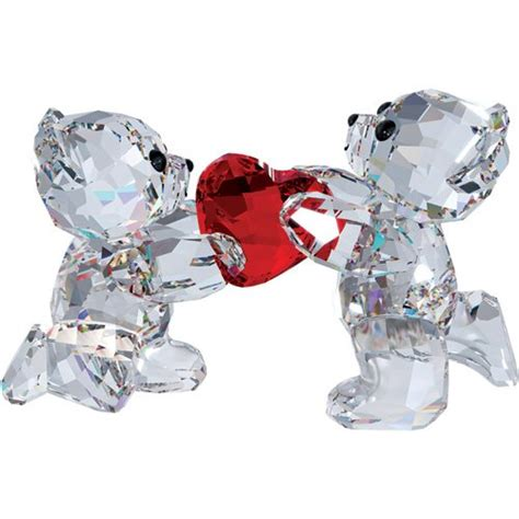 swarovski crystal home decor swarovski crystal kris bear my heart is yours figurine