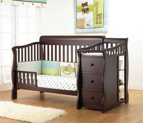 Sorelle Tuscany 4 In 1 Convertible Fixed Side Crib And 4 In 1 Crib With Changing Table And Dresser