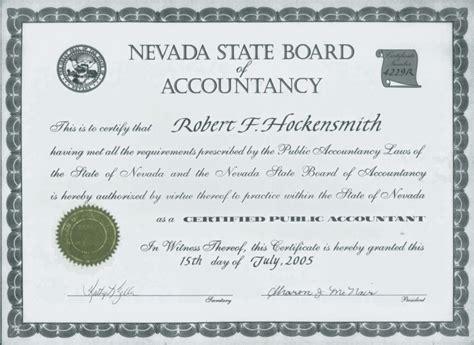 Wsu Mba Certificate by Nv Cpa License