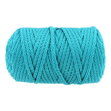 Macrame Cord 6mm - turquoise 6mm bonnie braided macrame craft cord hobby
