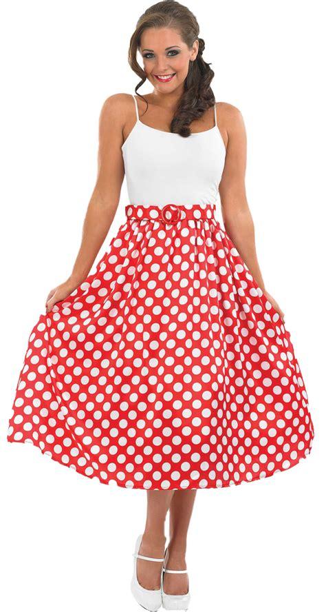 Rok Skirt Polkadot rock roll skirt 1950s fancy dress polka dot jive womens costume ebay