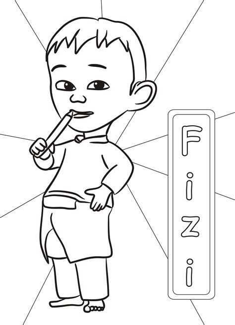 coloring picture upin ipin upin ipin free colouring pages