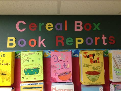 book report prompts cereal box book report cereal box book reports school