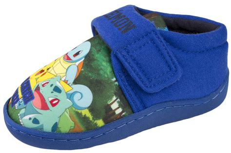boys house shoes boys pokemon slippers comfort house shoes pikachu charmander squirtle bulbasaur ebay