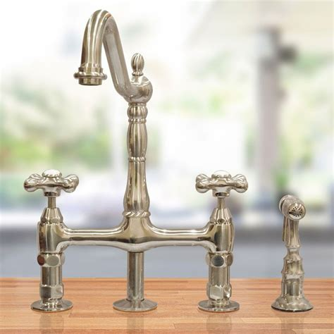bridge style kitchen faucet randolph morris bridge style kitchen faucet with metal