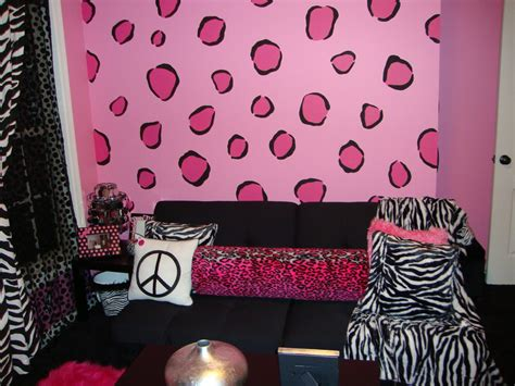 zebra print teenage bedroom ideas fashionable teen hangout lounge design dazzle