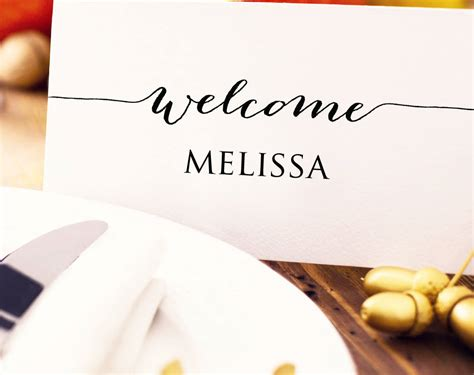 Wedding Seating Place Cards Template