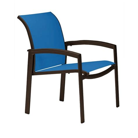 Aluminium Dining Chairs Elance Relaxed Sling Dining Chair With Aluminum Frame Furniture Leisure