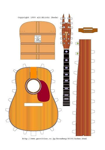 Papercraft Guitar - 17 best images about guitar s paper models on