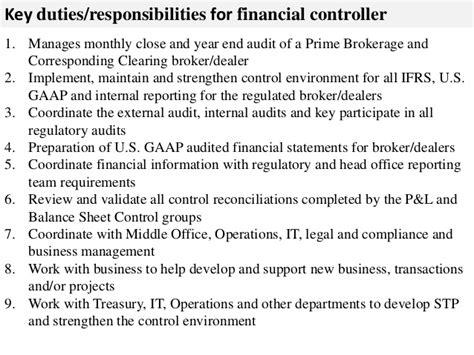 Job Resume Key Qualifications by Financial Controller Job Description