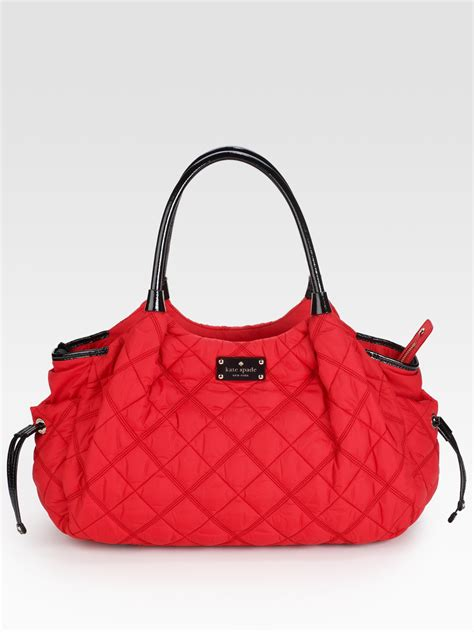 Designer Kate Spade Snowmass Stevie Bag by Kate Spade Stevie Quilted Baby Bag In Lyst