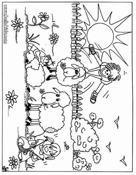 free coloring pages of preschool farm animals