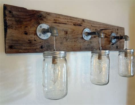 mason jar bathroom light fixture rustic bathroom vanity barn wood mason jar hanging light