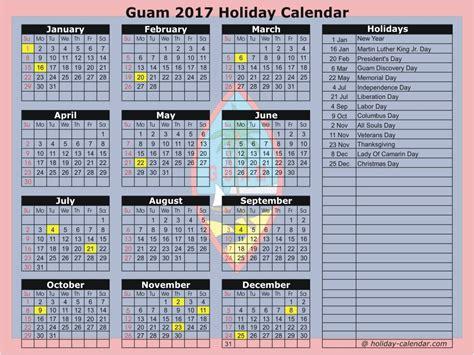 Calendar 2018 Showing Holidays Guam 2017 2018 Calendar
