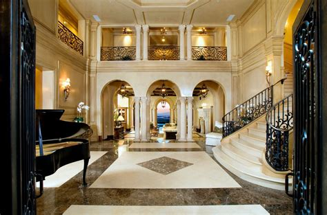 luxury mansion home foyer staircase beautiful homes - Mansion Foyer
