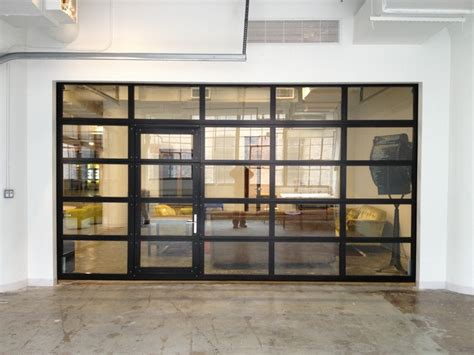 Clear Garage Doors by Ny Loft Black Aluminum Garage Door Clear Glass With