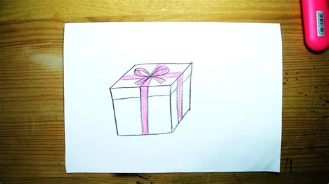 how to draw a gift box for kids youtube