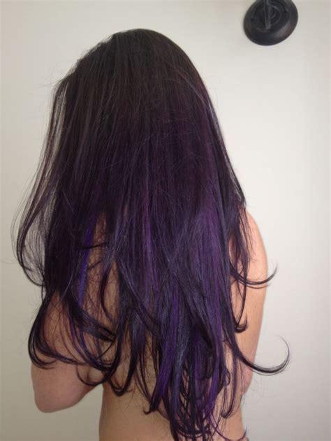 long hairstyles purple highlights 16 glamorous purple hairstyles pretty designs
