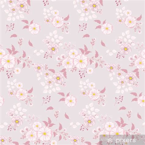 seamless floral pattern background  small pink flowers