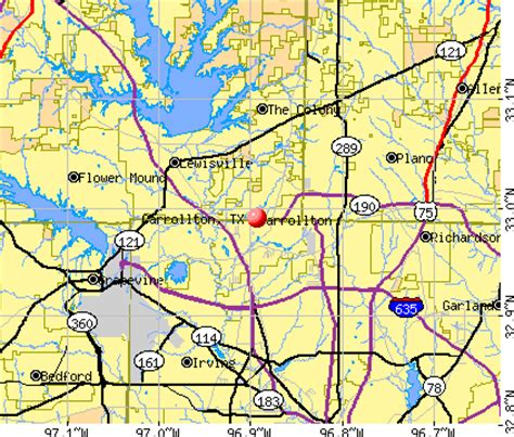map of carrollton texas carrollton texas tx profile population maps real estate averages homes statistics