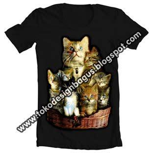 Baju Distro Kaos Tshirt Siluet Kucing kaos distro kucing cats desain kaos desain t shirt desain baju clothing kaos distro