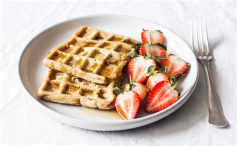 vegan gluten free strawberry pumpkin waffles