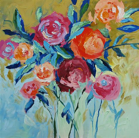 the modern flower painter 1844488632 giclee print of acrylic abstract floral painting modern art