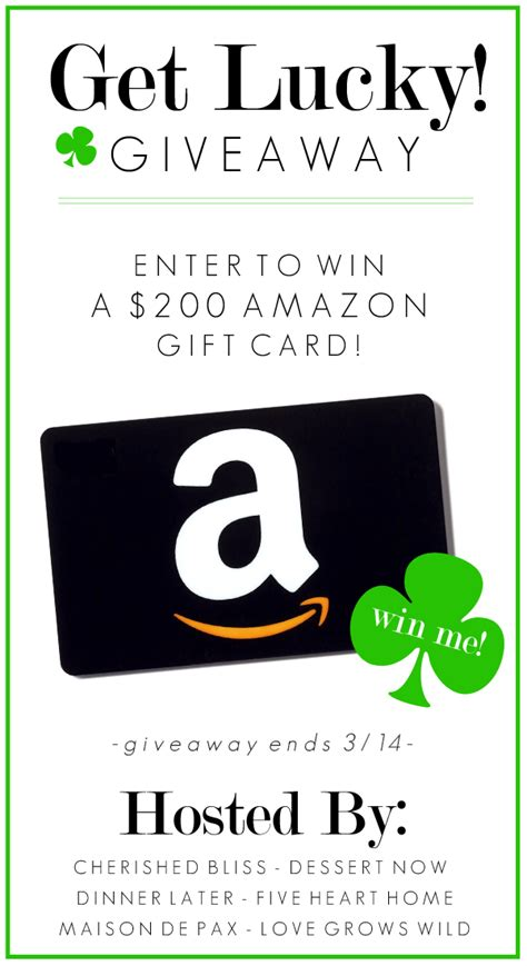 Lucky Giveaway - get lucky giveaway enter to win a 200 amazon gift card