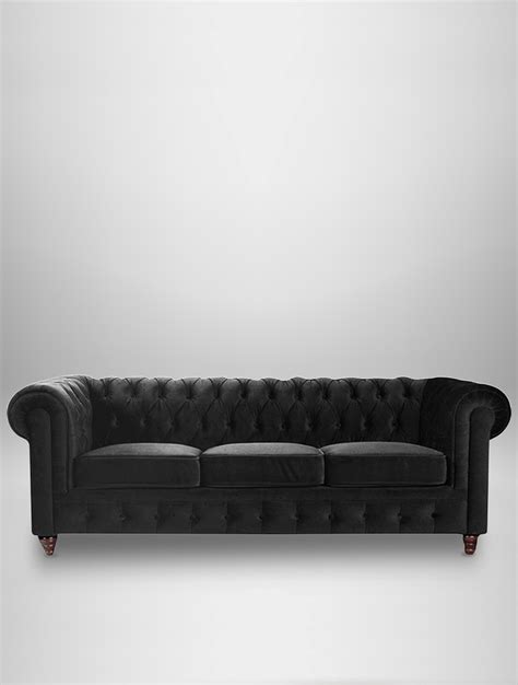 black velvet chesterfield sofa black chesterfield sofas